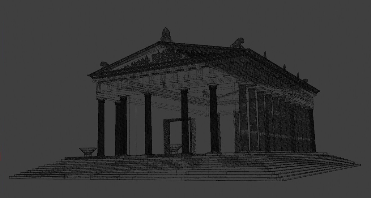3D digital reconstruction Ammon Zeus'  temple 01