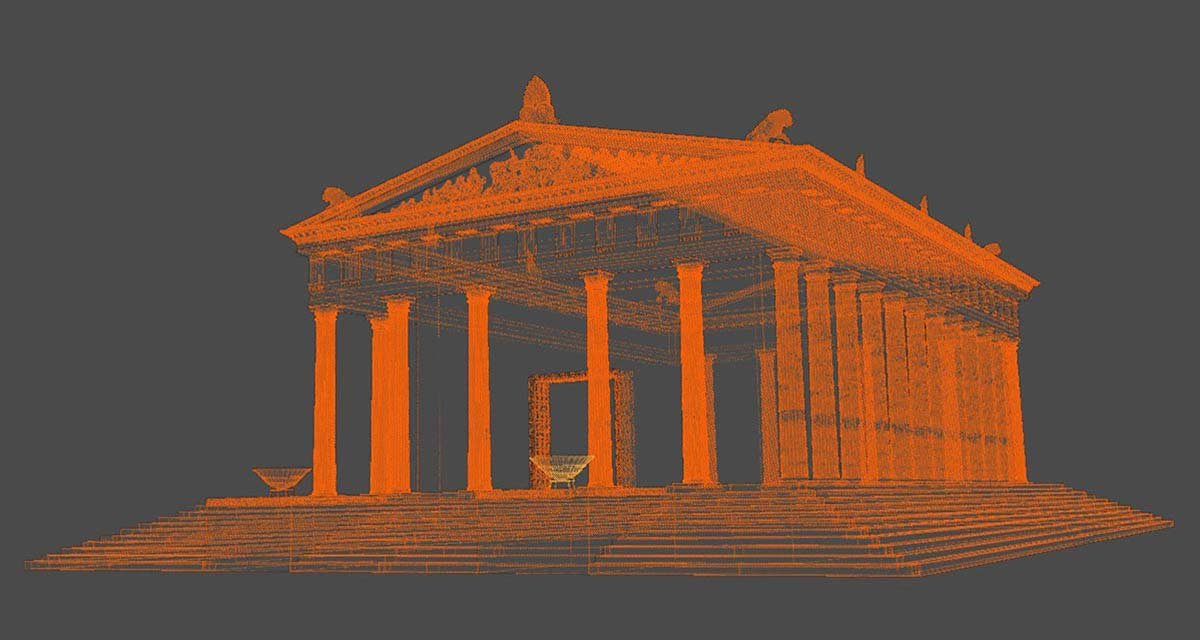 3D digital reconstruction Ammon Zeus'  temple 02