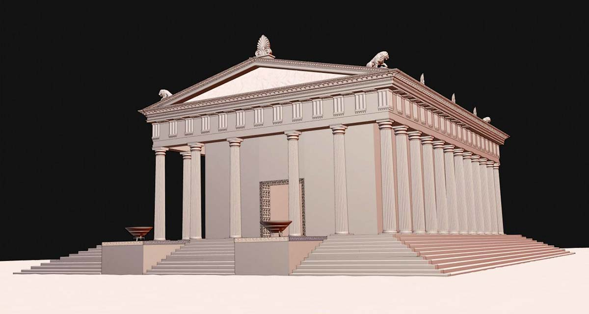 3D digital reconstruction Ammon Zeus'  temple 03