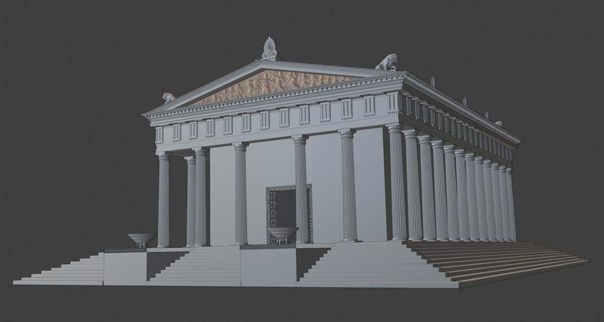 3D digital reconstruction Ammon Zeus'  temple 04