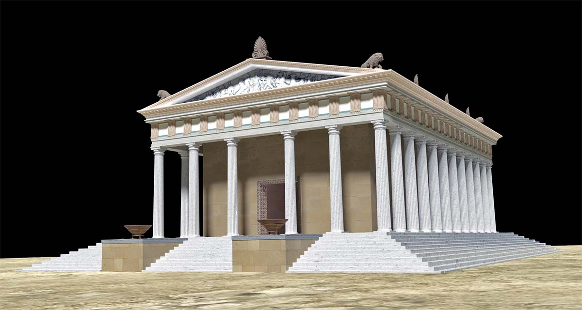 3D digital reconstruction Ammon Zeus'  temple 05