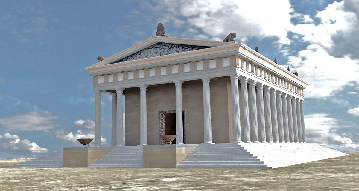 3D digital reconstruction Ammon Zeus'  temple 07