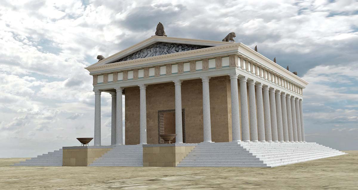 3D digital reconstruction Ammon Zeus'  temple 08