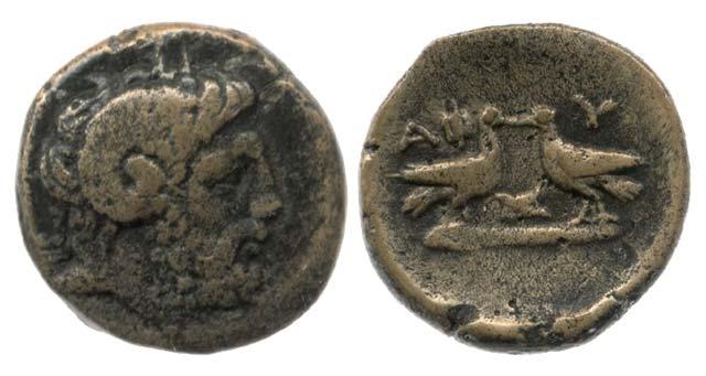 Άμμων Ζευς-2 Αετοί(Χαλκός 168 π.Χ.)