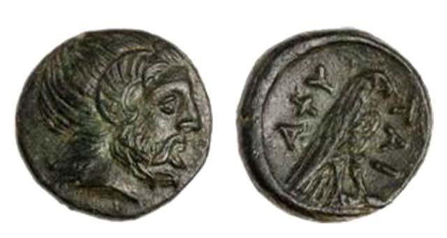 Άμμων Ζευς-Αετός(Χαλκός 168 π.Χ.)