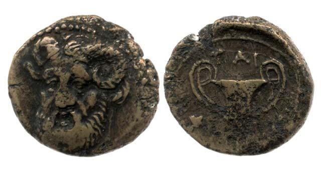 Άμμων Ζευς-Κάνθαρος(Χαλκός 168 π.Χ.)