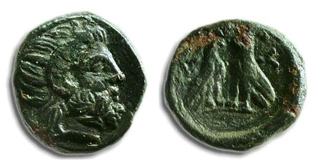Άμμων Ζευς-2 Αετοί(Χαλκός 187 π.Χ.)