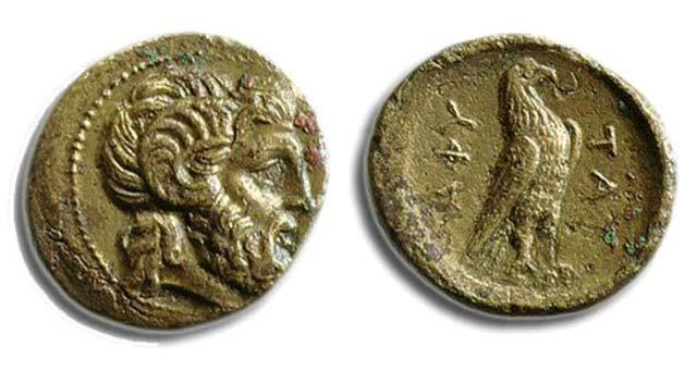Άμμων Ζευς-Αετός(Χαλκός 187 π.Χ.)