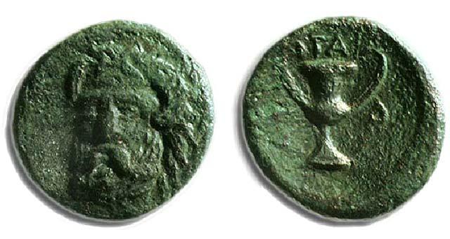 Άμμων Ζευς-Κάνθαρος(Χαλκός 400-358 π.Χ.)
